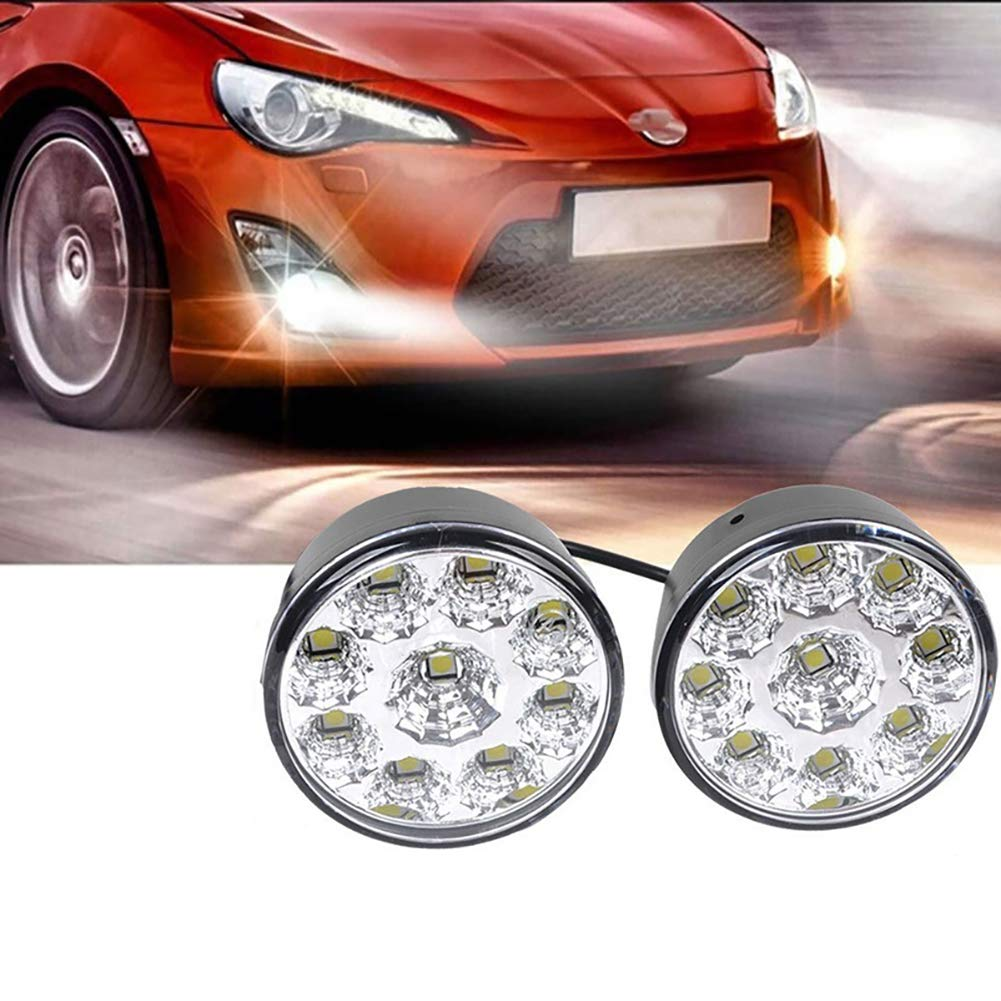 2pcs Car Daytime Running Lights 9LED Car Daytime Running Light Assembly 12V Auto DRL Fog Day Light Car Accessories