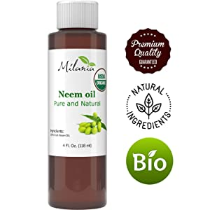 Premium Organic Neem Oil Virgin, Cold Pressed, Unrefined 100% Pure Natural Grade A. Excellent Quality. Same Day Shipping(4 Fl. Oz.)