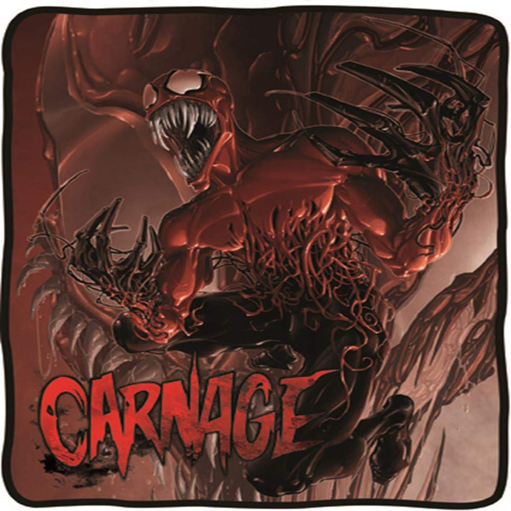 Multicolor Surreal Entertainment CFB-ME-CARN Marvel Spider-Man Villain Carnage Fleece Blanket