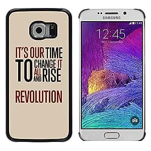 TopCaseStore / la caja del caucho duro de la cubierta de protección de la piel - Time Revolution Freedom Red Message - Samsung Galaxy S6 EDGE SM-G925