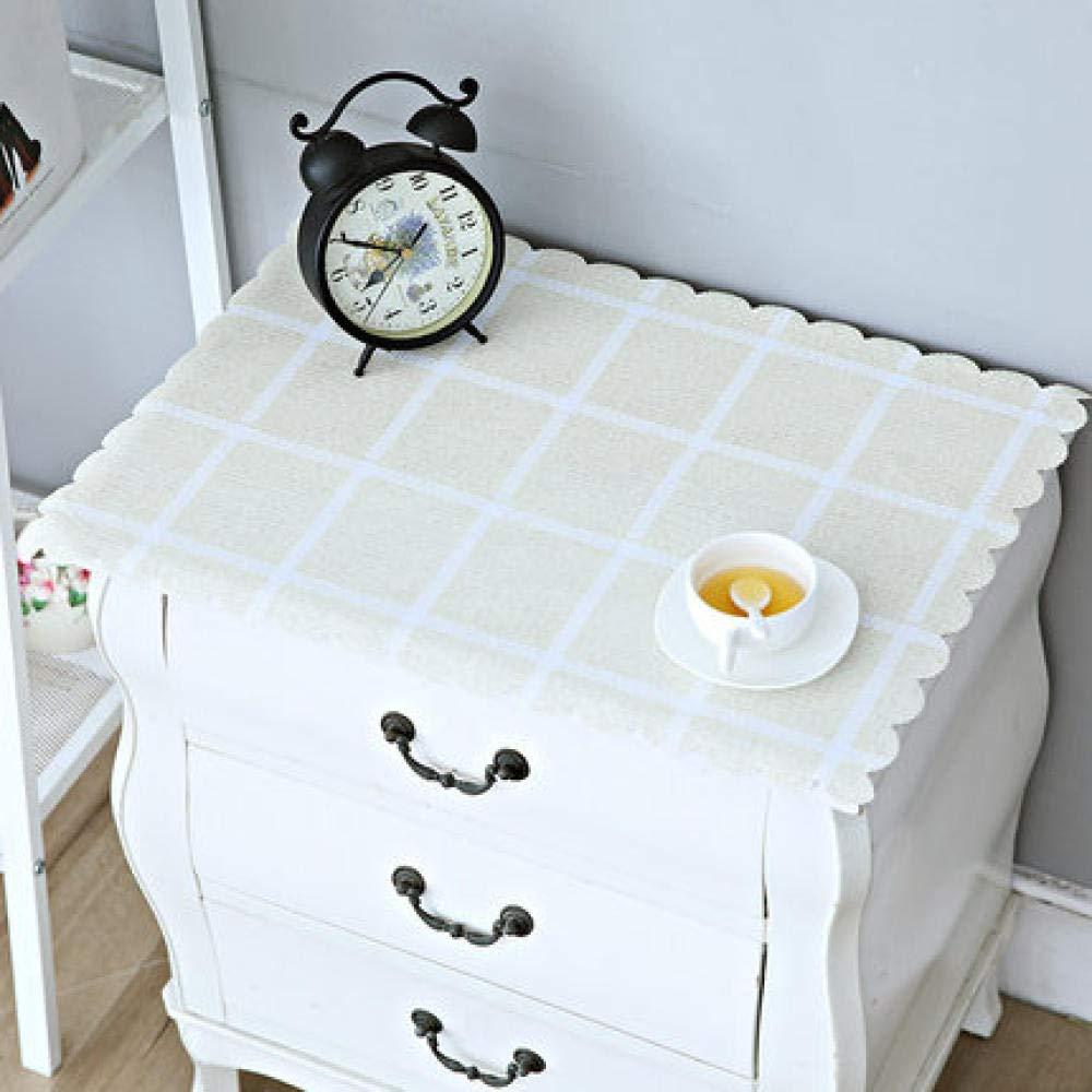 WJJYTX tischdecke Plastik, Nachttischdecke Abwischbare Vinyl-Tischdecke Stilvolles Muster Wasserdichtes kleines Quadrat @ 50 * 60