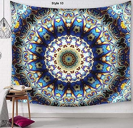 Heylookhere Mandala Print Tapestry Manta de Pared Toalla de Playa Mantel de Pared Colgante (Estilo