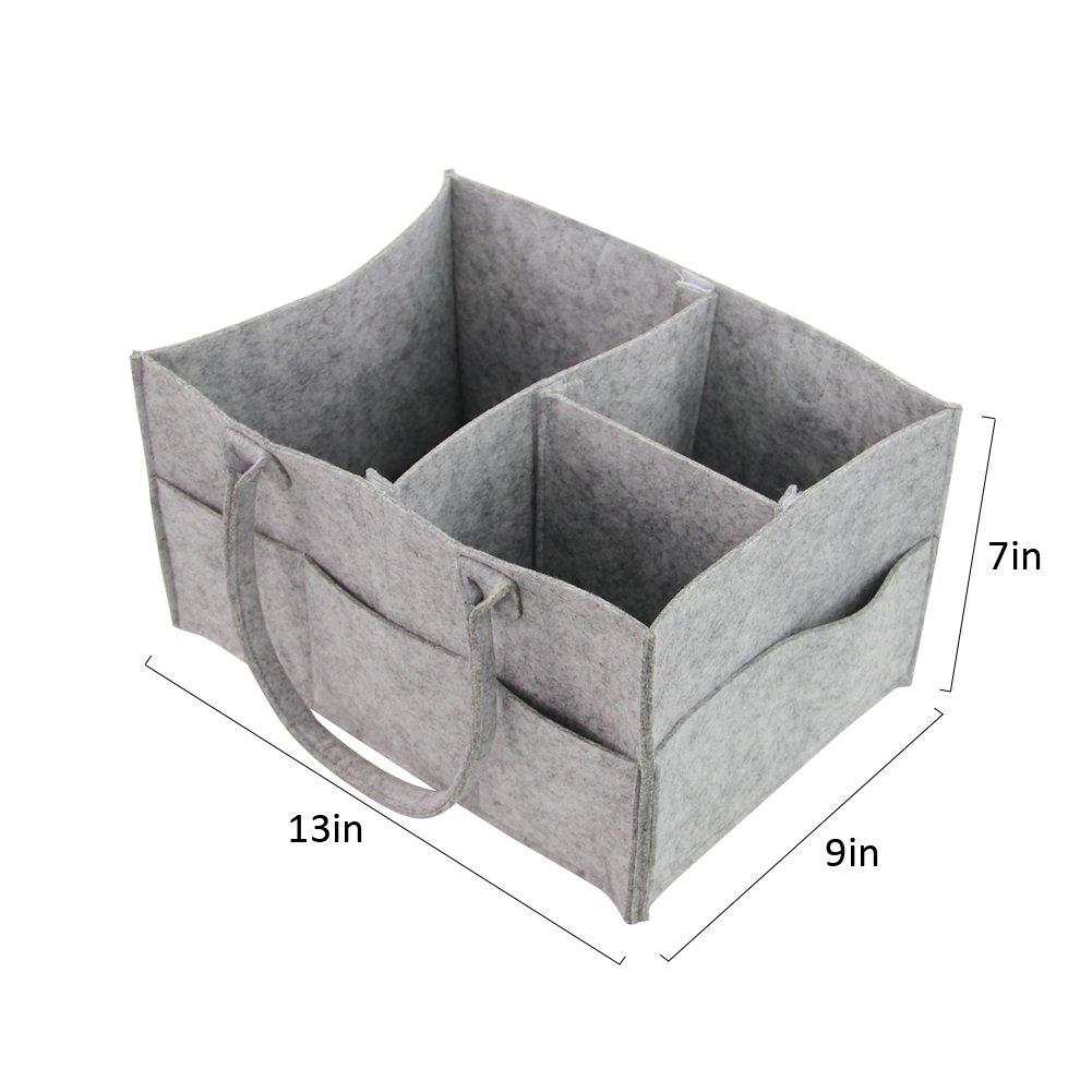 DrCosy Tragbare Mutter Premium Baby Windel F/ühlte Windel Kindergarten Bin Aufbewahrungsbox Organizer Windel Stapler 34 * 22 * 18.5 cm