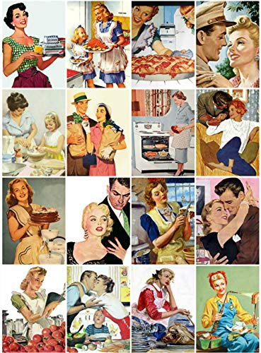 - Retro 50's Ads Collage Sheet 101 for Scrapbooking, ATC Cards, Altered Art Scrapbooking, Decoupage, Labels