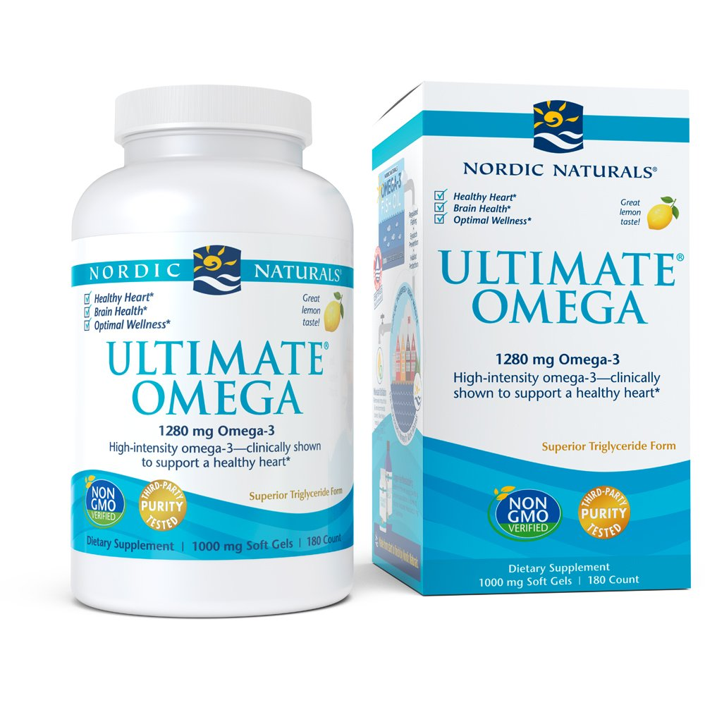 Nordic Naturals - Ultimate Omega, Support for a Healthy Heart, Lemon, 180 Soft Gels