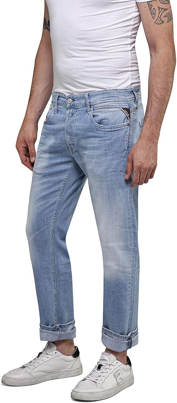 Replay Men's Grover Straight Jeans Blue (Light Blue 10)