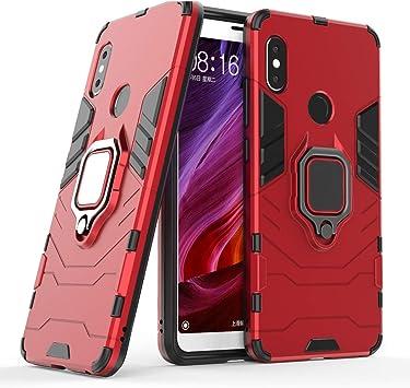 Cocomii Black Panther Armor Xiaomi Redmi Note 5/Note 5 Pro Funda Nuevo [Robusto] Anillo Soporte [Funciona con El Montaje De Coche Magnético] Case Carcasa for Xiaomi Redmi Note 5/Note 5 Pro (B.Red):