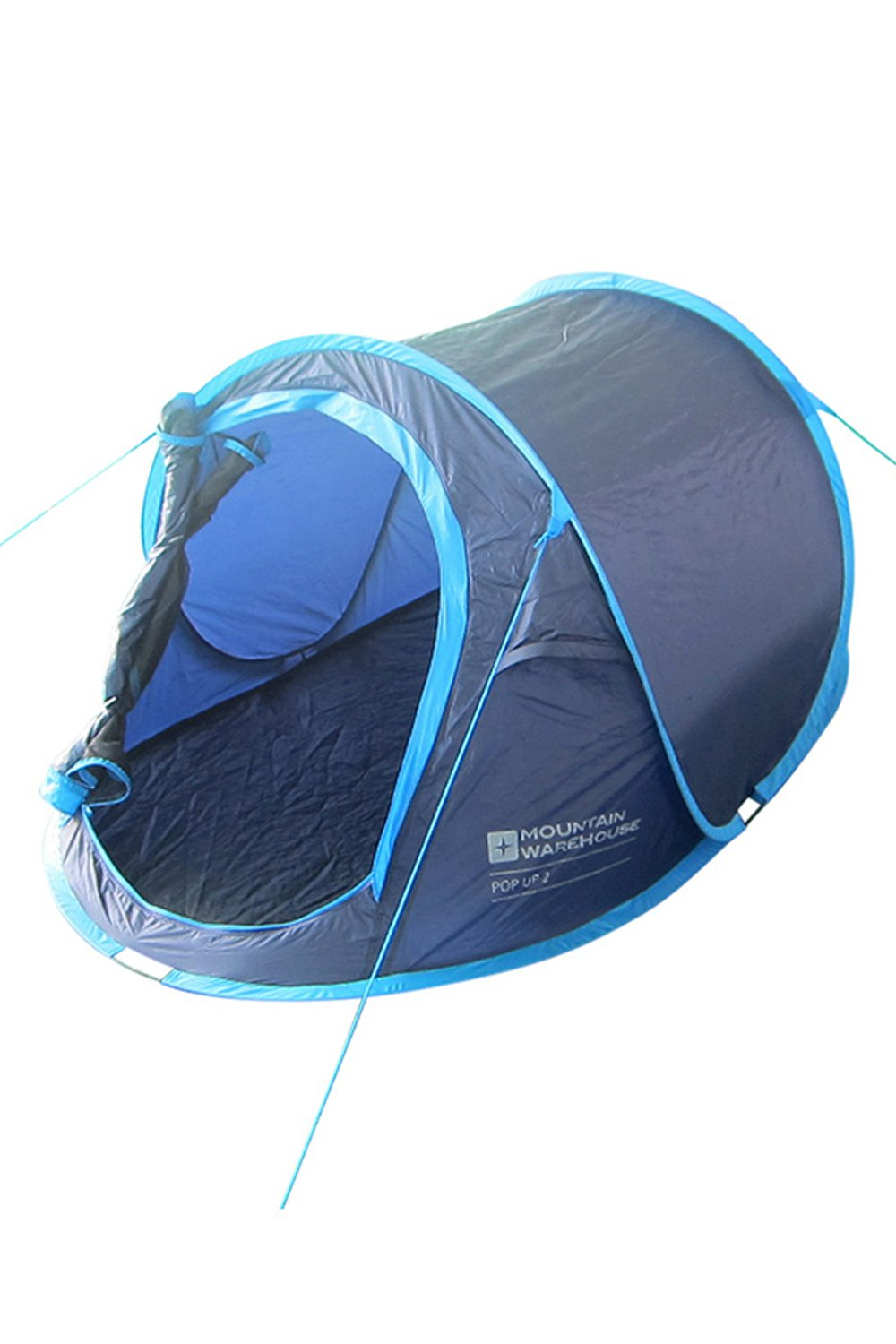 Mountain Warehouse Pop-Up Tent - Groundsheet, 2 Man Single Skin Camping Tent, Water Resistant Family Tent, Breathable and Lightweight - Ideal for Summer Festivals, Outdoors Outdoors Blue 023701006001
