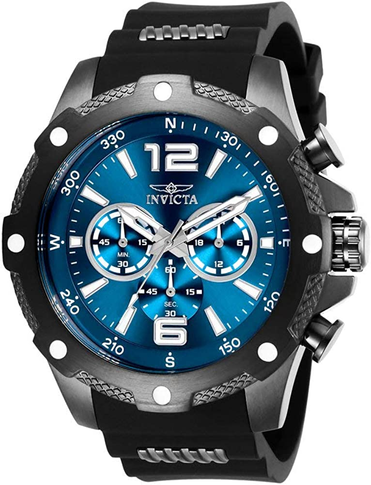 Invicta Men s I-Force Stainless Steel Quartz Watch with Polyurethane Strap, Black, 24 Model 27272