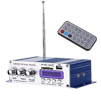 Hifi Amplificador, ARCHEER Mini Hi-Fi Amplificador de Coche, Amplificador Est¨¦
