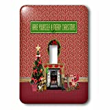 3dRose Beverly Turner Christmas Design - Christmas Room, Fireplace, Tree, Toys, Have Yourself a Merry Christmas - Light Switch Covers - single toggle switch (lsp_267908_1)