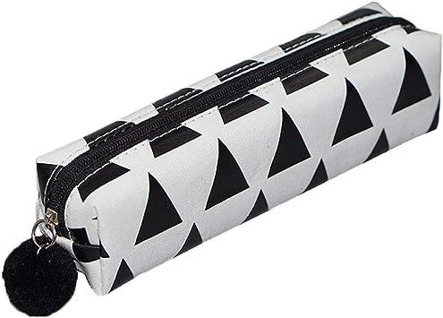 Boomly Cuadrado Estuche De Lápices De Lona Estudiante Cartuchera Bolsa De Almacenamiento Caja De Papelería para Chicas Chicos Adolescentes Niños (Negro#1): Amazon.es: Juguetes y juegos