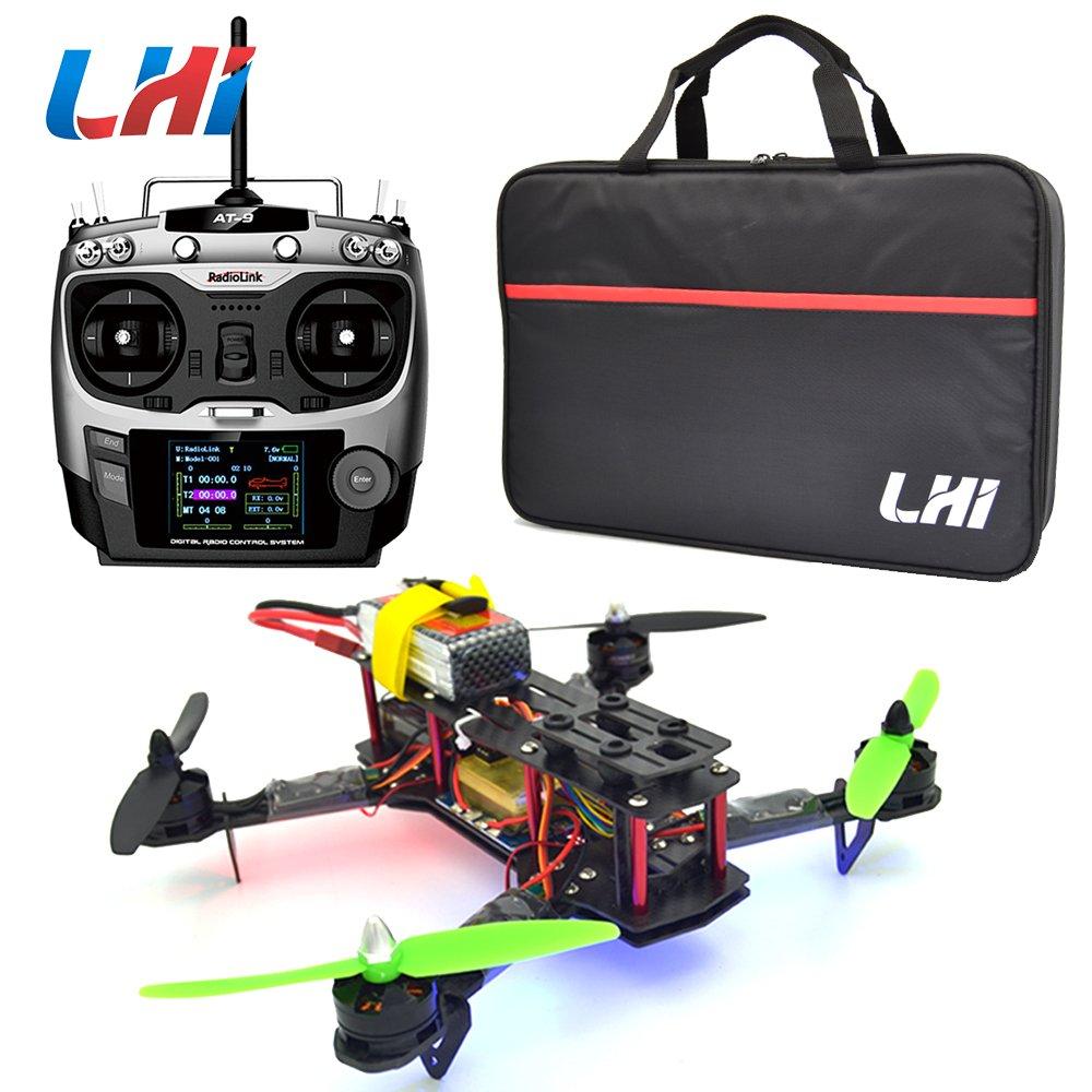 LHI 250 RTF Quadrokopter Rennkopter + AT-9 Fernsteuerung mit CC3D Flugcontroller + MT2204 2300KV Motor + 12A ESC + Propeller (Fertig Montiert) thumbnail