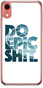 جراب Loud Universe لهاتف iPhone XR شفاف الحواف Do Epic Shit Sea Waves Surfers جراب iPhone XR