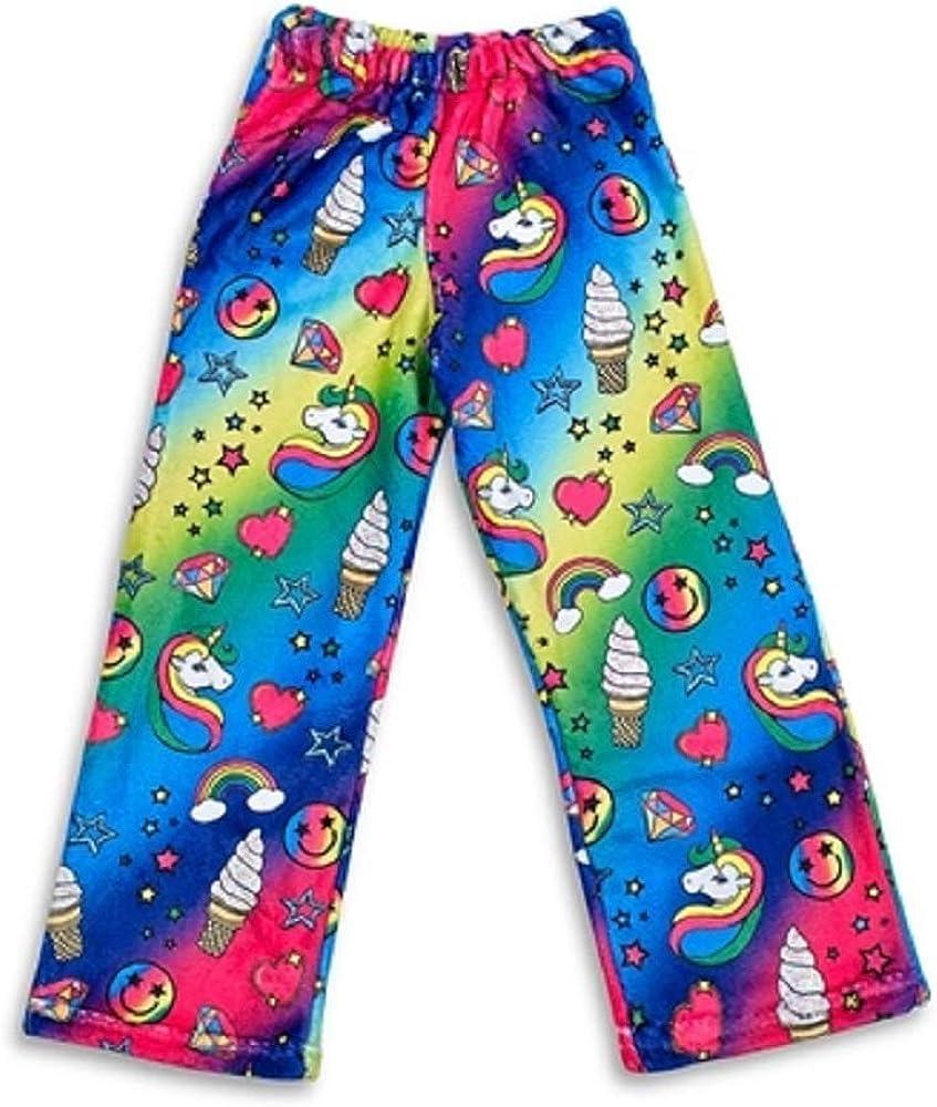 TOP TRENZ Super Soft Fuzzy Kids Sized Plush Lounge Pants