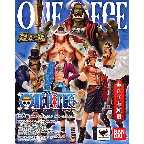 Full set of 6 Super Modeling Soul One Piece White Beard Pirates bonus Parts