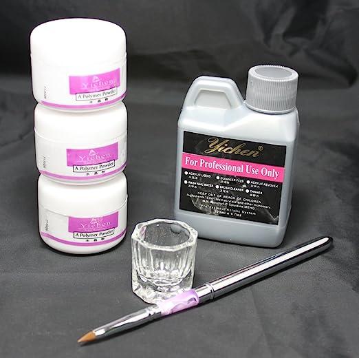 Us Seller 6 In 1 Nail Art Kit Acrylic Liquid Powder Pen Dappen Dish Set 46 A By Windmax