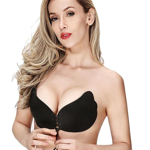 Tefamore Mujer encaje atractivo pegar en el pecho invisible 100% natural-- sujetador adhesivo