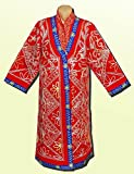 VINTAGE UNUSUAL UZBEK BEAUTIFUL SILK EMBROIDERED WEDDING ROBE A6787