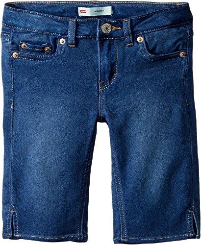 Cotton Sateen Pencil Skirt - Levi's Girls' Big Super Soft Denim Bermuda Shorts, Medium Indigo, 12