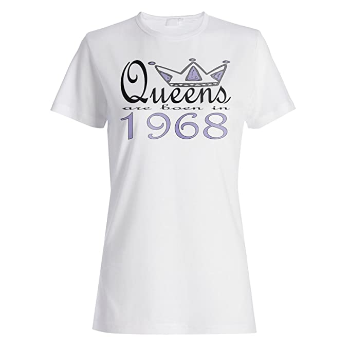 New Art Design Queens are born in 1968 Ladies T-shirt b604f: Amazon.co.uk:  Clothing