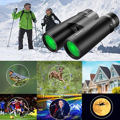 Binoculars for Adults,Szeshineco 10×42 Ultra HD Binoculars,Floating Waterproof Fog Proof,Low Light Night Vision Binocular for Birdwatching Hunting Hiking Camping Boating Travel Concert,With Phone Clip