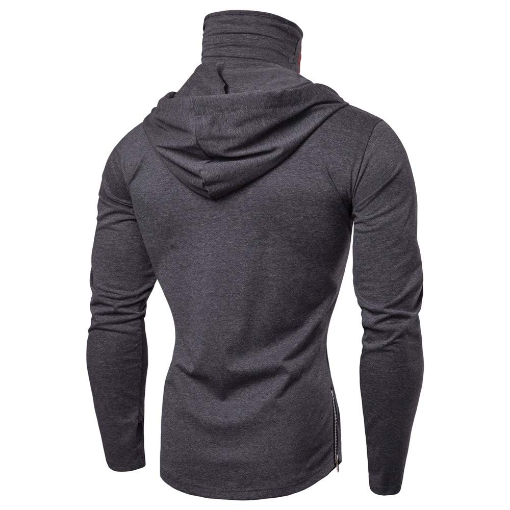6ebb8b7ff675 Amazon.com  Men Novelty Hoodie Long Sleeve Hooded Sweatshirts Fashion Skull  Printed High Neck Tops  n  Clothing