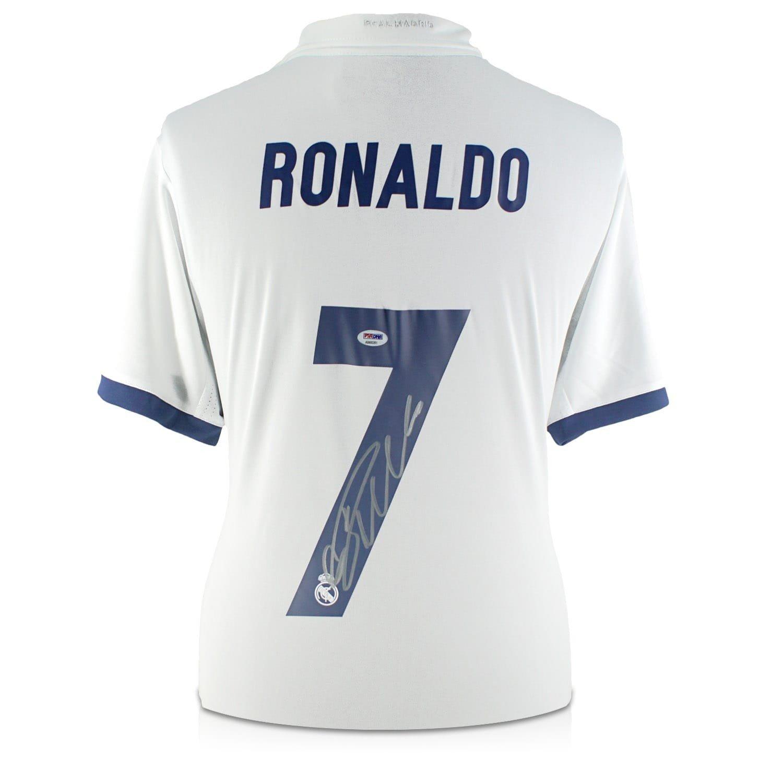 exclusivememorabilia.com Camiseta del Real Madrid firmada por Cristiano Ronaldo (PSA/DNA): Amazon.es: Deportes y aire libre