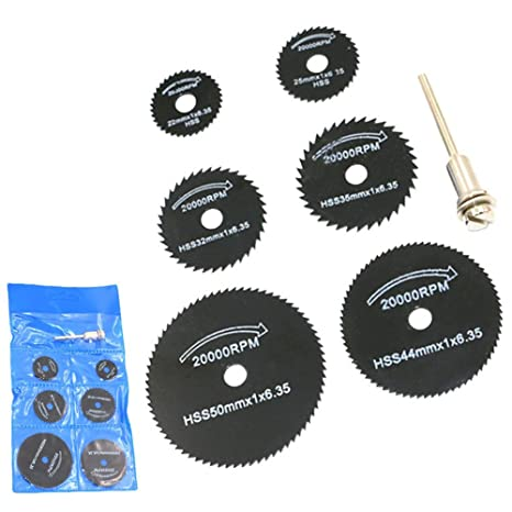 Cacys Store - 7pcs 3.2mm Metal Mini HSS Circular Saw Blade Rotary Tool Woodworking Cutting Disc Cut Off Wheel Metal Cutter Power Tool Cutoff - - Amazon.com