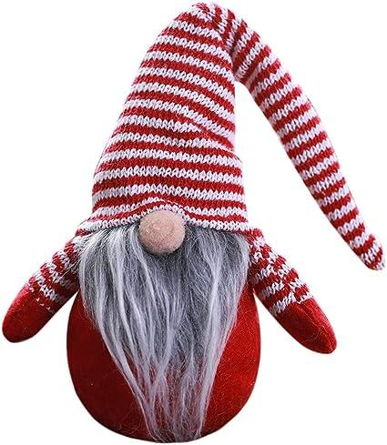 Fenical Gemelli Babbo Natale Polsino Manica Natale Chiodi Decorazione per Uomo Donna