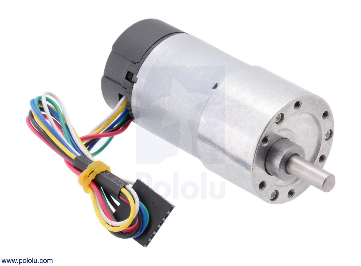Pololu 19:1 Metal Gearmotor 37Dx68L mm with 64 CPR Encoder (Item 2822)