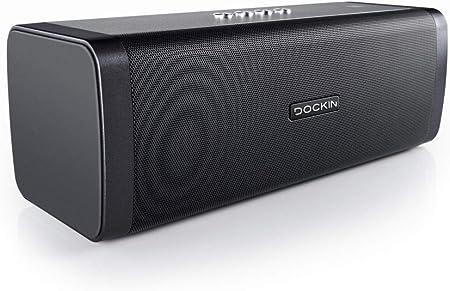 DOCKIN D FINE Hi-Fi Bluetooth Speaker - speakers for indoor / outdoor,  wireless, easy to carry, waterproof, 7 watts, black