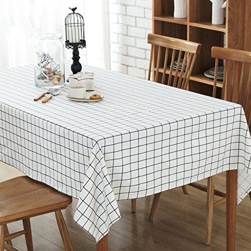 - SN Tablecloth, Cotton and Linen Flax Wood Grain Lattice Black Suitable for Dining Tables, Writing Desks, Computer Tables, Conference Tables, and Sofa Covers (Color : B, Size : 120120)