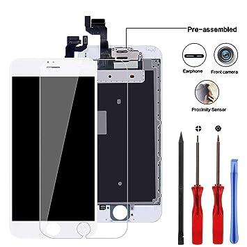 """b79c40b2ec583c YPLANG Pré-assemblé Remplacement Ecran pour iPhone 6s Blanc 4.7"""" Retina 3D  Tactile Écran"""