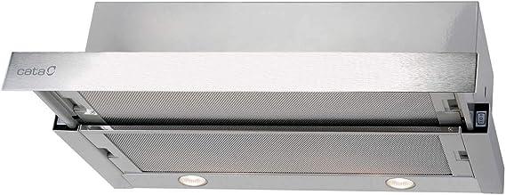 CATA | campana extractora | Modelo TF 2003 DURALUM 60 | 2 velocidades de extracción | campana extractora cocina 390m3/h - 150m3/h | Acabado en acero inoxidable: Amazon.es: Grandes electrodomésticos