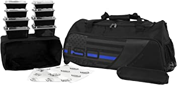 Isolator Fitness Thin Blue Line ISODUFFLE Gym Bag Meal Prep Management  Insulated Duffle Lunch Bag with a24417eeca