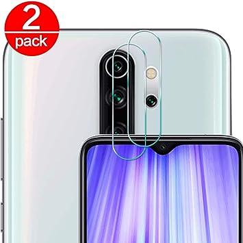 2 Pack] Cristal Templado para Lente Cámara de Xiaomi Redmi Note 8 ...