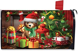 Briarwood Lane Waiting for Santa Christmas Magnetic Mailbox Cover Puppy Standard