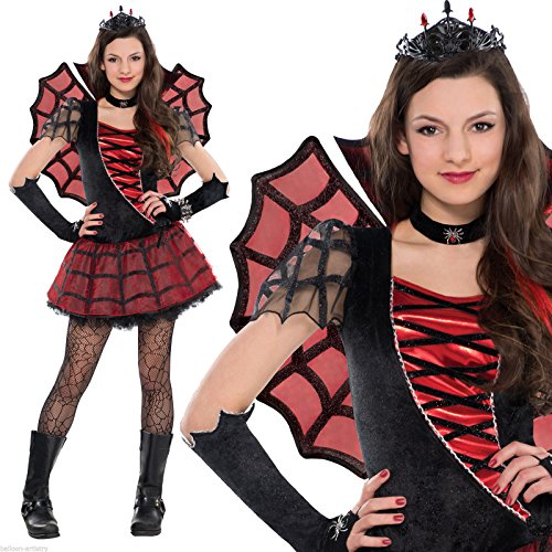 Halloween Big Girls' Spider Queen Costume UK 8 - 10 - Child Spider Queen Costume