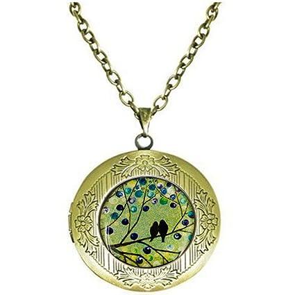 Amazon Bird Necklace Charm Locket NecklaceWife Birthday Gift