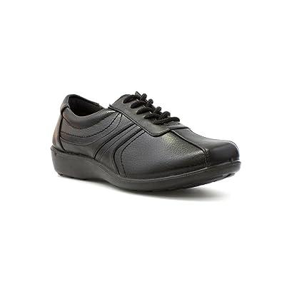 52351c70a Softlites Womens Black Lace Up Comfort Casual Shoe - Size 9 UK - Black