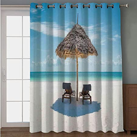 iPrint cortina para puerta de patio, con cita en inglés