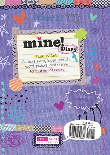 Mine! Diary - Sparkly Lock & Keys - Girls 8+ - Illustrated and Activities