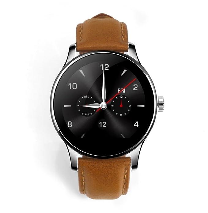 sagton® k88h Mtk2502 C Bluetooth Smart reloj corazón tasa pista piel banda reloj de pulsera: Amazon.es: Juguetes y juegos