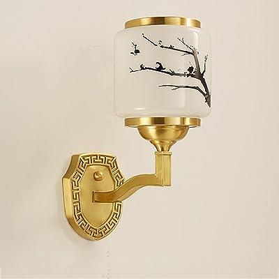 Nouveau Lampe Mur Style Chinois Chambre De Salon Cuivre Yg76Ibfvy