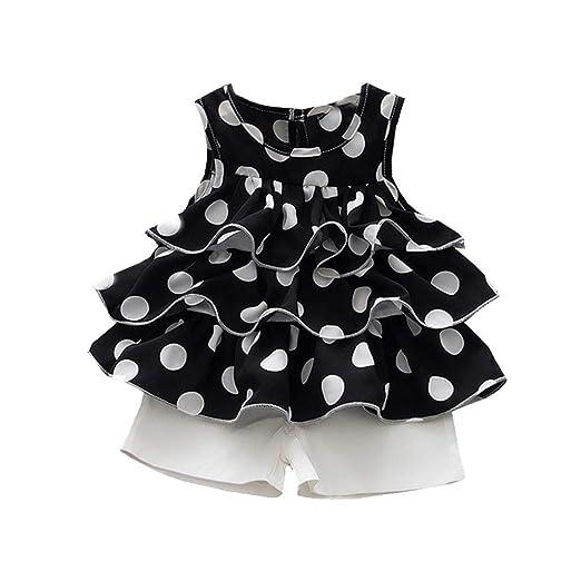 3ee3b17ea390f Amazon.com: TIFENNY Summer Toddler Baby Shorts Sets Kids Girls ...