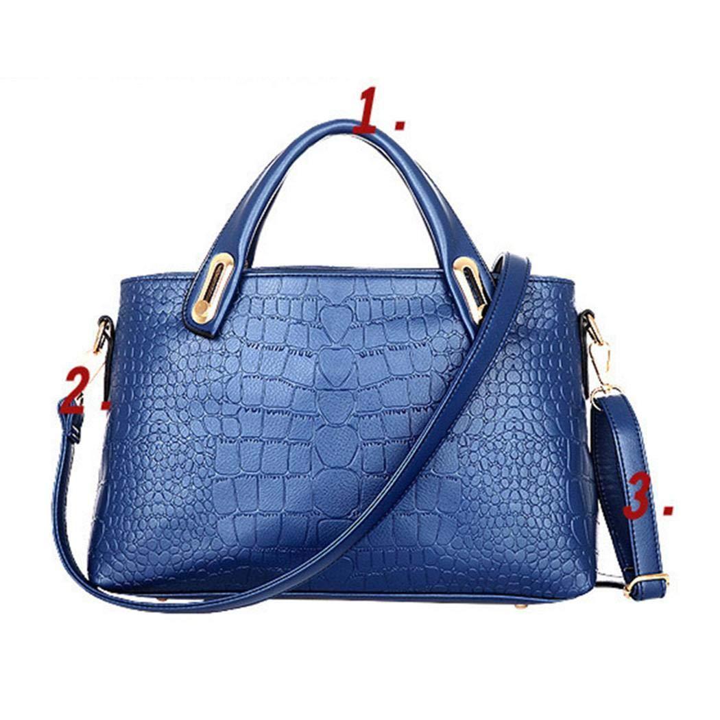 eubell 3Pcs Women Handbag Set Synthetic Leather Casual Party Bag
