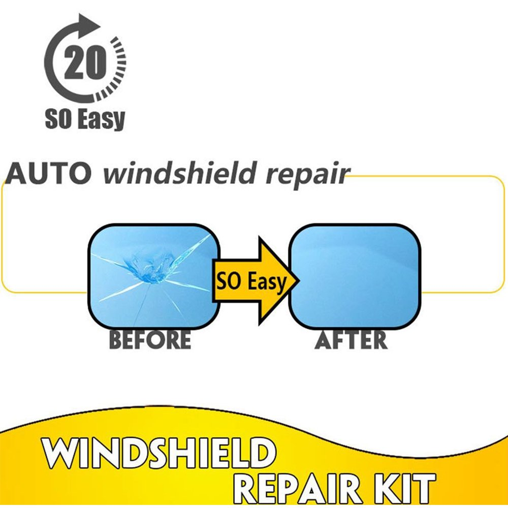 Gold Happy Practical Car Window Glass Recovery Crack Remove Chip Resin Windscreen Windshield Repair DIY Tool Kit Set by Gold Happy (Image #6)