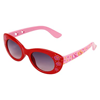 52a4306698 Zyaden Kids Red Cat-Eye Sunglasses 14 (Age 4+)  Amazon.in  Clothing    Accessories