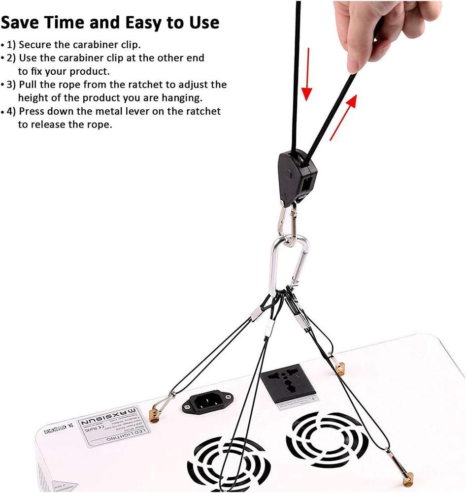 Ahagut Trinquete de Cuerda Deber Pesado Colgador de Cuerda Trinquete de Cuerda Trinquete Ajustable Crecer Ligero Trinquete Cuerda Trinquete de Cuerda